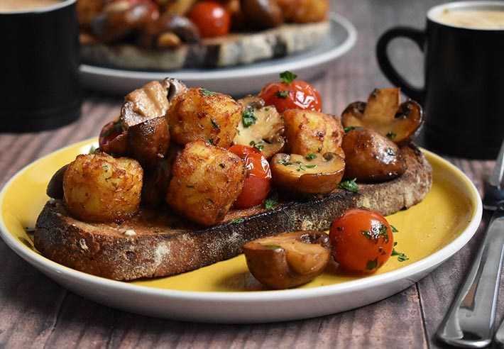 mushroom-hash-brown-toast-recipe