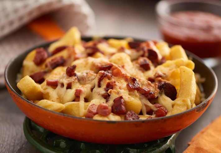 Cheesy Chips with Bacon & Chorizo (serving suggestion)