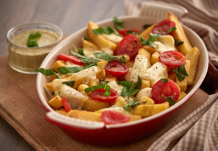 Cheesy Chips Italian style (serving suggestion)
